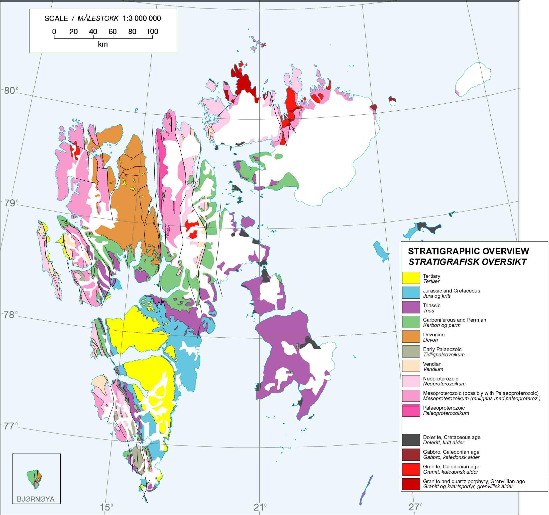 Svalbard Geology - Svalbard map